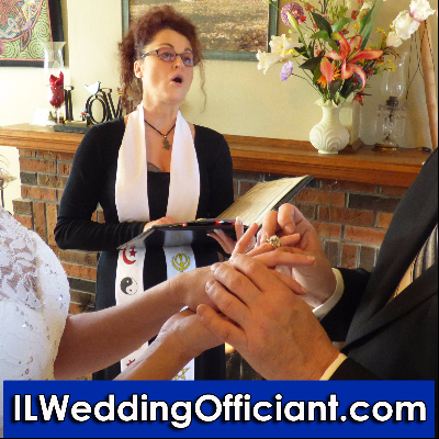 IL Wedding Officiant At Pine Manor